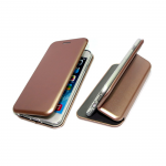 Чехол-книга Fashion Case Samsung A530 Galaxy A8 2018 с силиконовым основанием и магнитом, розовое-зо