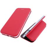 Чехол-книга Fashion Case Xiaomi Mi A3 с силиконовым основанием и магнитом, красная