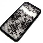 Задняя крышка Samsung J310 Galaxy J3 2016 Monarch, цветы с черточками, черная