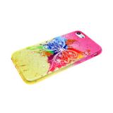 Силиконовый чехол Samsung A510 Galaxy A5 2016 блестяшки с цветами, бабочка
