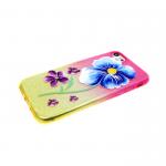 Силиконовый чехол Iphone 6/6S блестяшки с цветами, цветок крупный