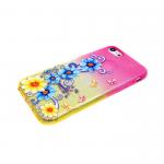 Силиконовый чехол Iphone 6/6S блестяшки с цветами, цветы с ветвями