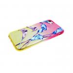 Силиконовый чехол Iphone 6/6S блестяшки с цветами, лилии
