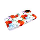 Силиконовый чехол Samsung A520F Galaxy A5 2017 фосфорный софт тач, розы