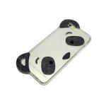 Силиконовый чехол Iphone 5/5S Панда с ушками и блестками черный