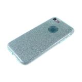 Силиконовый чехол Huawei P8 Lite плотный с блестками, вырез для лого, бирюзовый