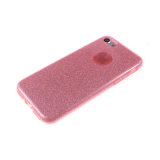 Силиконовый чехол Huawei P8 Lite плотный с блестками, вырез для лого, розовый