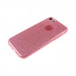 Силиконовый чехол Huawei Honor 6X плотный с блестками, вырез для лого, розовый