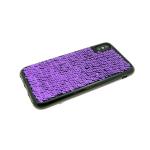 Силиконовый чехол Huawei Honor 6X с пайетками, меняет цвет одним движением, фиолетовый