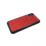 Силиконовый чехол Iphone 6/6S с пайетками, меняет цвет одним движением, красный