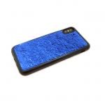 Силиконовый чехол Xiaomi Redmi 4X с пайетками, меняет цвет одним движением, синий