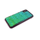 Силиконовый чехол Huawei Honor 6X с пайетками, меняет цвет одним движением, зеленый