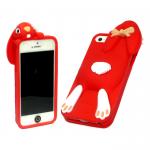 Силиконовый чехол Iphone 6/6S Заяц красный