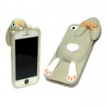 Силиконовый чехол Iphone 6/6S Заяц серый