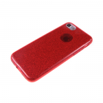 Силиконовый чехол Huawei P8 Lite плотный с блестками, вырез для лого, красный