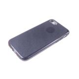 Силиконовый чехол Nokia 8 плотный с блестками, вырез для лого, черный