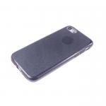 Силиконовый чехол Huawei Honor 6X плотный с блестками, вырез для лого, черный