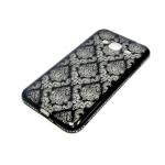 Силиконовый чехол радужный со стразами Samsung J310 Galaxy J3 2016 черный