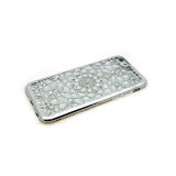 Силиконовый чехол Samsung A530 Galaxy A5 2018/A8 Битые кристаллы, серебро
