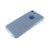 Силиконовый чехол Xiaomi Redmi 4X плотный с блестками, вырез для лого, голубой