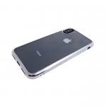 Силиконовый чехол Samsung J330F Galaxy J3 2017 прозрачный с серебряной окантовкой из страз