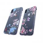 Силиконовый чехол Samsung J530 Galaxy J5 2017 прозрачный со стразами, с бабочками и цветами