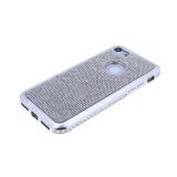 Силиконовый чехол Samsung A510 Galaxy A5 2016 с поверхностью из страз, окантовка со стразами, серебр