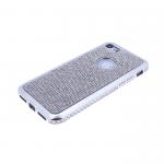 Силиконовый чехол Xiaomi Redmi 4X с поверхностью из страз, окантовка со стразами, серебро