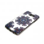 Силиконовый чехол Samsung J530 Galaxy J5 2017 Узоры голубые со стразами