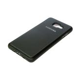 Силиконовый чехол Lenovo K6 Note Кожа с логотипом черный