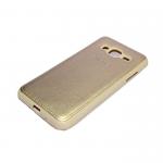 Силиконовый чехол Meizu M5C Кожа с логотипом золотой