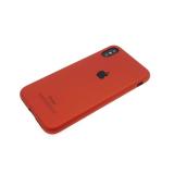 Силиконовый чехол Sony Xperia XA1 Soft Touch матовый с логотипом, красный
