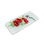 Силиконовый чехол Xiaomi Redmi 5a прозрачный с цветочками, маки