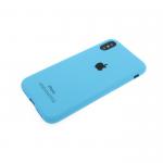 Силиконовый чехол Xiaomi Redmi 5a Soft Touch матовый с логотипом, голубой