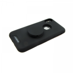 Задняя крышка Samsung A730F Galaxy A8 Plus 2018 MOTOMO с попсокет, черная