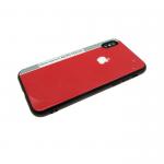 Задняя крышка Iphone 7 Plus/8 Plus стеклянная Auto Focus, красная