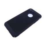 Задняя крышка Xiaomi Redmi Note 4 Пластик Soft touch перфорированный, черная