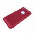 Задняя крышка Samsung J530 Galaxy J5 2017 Пластик Soft touch перфорированный, красный