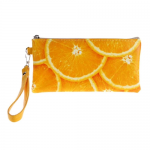 Сумочка-кошелек Color на молнии двойная размер XL апельсин
