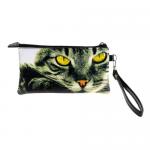 Сумочка-кошелек Color на молнии двойная размер XL кот