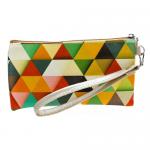 Сумочка-кошелек Color на молнии двойная размер XL треугольнички