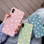 Чехол ТПУ Сердечки для Xiaomi Redmi Note 8 Pro, арт.011525 (Синий)