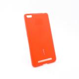 Чехол силиконовый Cherry для XIAOMI Redmi 4A, тонкий, непрозрачный, матовый, цвет: красный