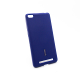 Чехол силиконовый Cherry для XIAOMI Redmi 4A, тонкий, непрозрачный, матовый, цвет: синий