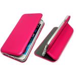 Чехол-книга Fashion Case Huawei Honor 7X с силиконовым основанием и магнитом, малиновый