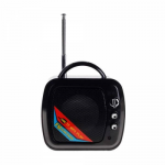 Колонка портативная, WS-575 телевизор, USB, microSD, цвет: чёрный