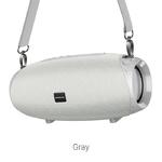 Колонка портативная Borofone, BR12, Amplio , пластик, Bluetooth, TWS, AUX, USB, SD, TF, цвет: серый