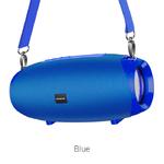 Колонка портативная Borofone, BR12, Amplio , пластик, Bluetooth, TWS, AUX, USB, SD, TF, цвет: синий