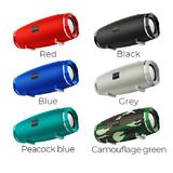 Колонка портативная Borofone, BR3, Beyond, металл, Bluetooth 5.0, FM, AUX, microSD, микро, серый