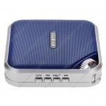 Колонка портативная без бренда, HY-BT01, Bluetooth, USB, microSD, цвет: синий